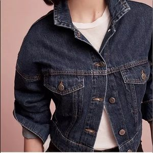Pilcro and the Letterpress Cropped Denim Jacket